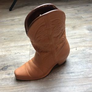 Frankoma boot decor western holder